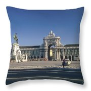 Commerce Square Throw Pillow