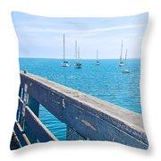 Commercial Pier On Monterey Bay-california  Throw Pillow