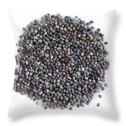 Commercial Poppy Seeds Throw Pillow