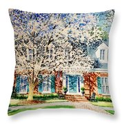 Commissioned House Portrait  Throw Pillow
