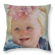 Commissioned Toddler Portrait Throw Pillow