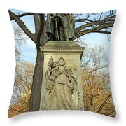 Commodore John Barry Monument Throw Pillow