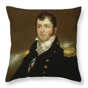 Commodore Oliver Hazard Perry Throw Pillow