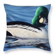 Common Goldeneye Throw Pillow