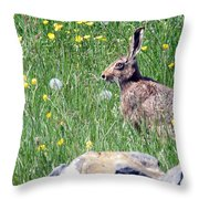 Common Hare Throw Pillow