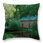 Common Sauna In The Village Throw Pillow