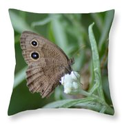 Common Wood Nymph Throw Pillow
