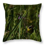 Common Yellow Throat Throw Pillow