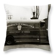Commonwealth Of Pennsylvania  Coal Mine Rescue Truck 1947 Throw Pillow