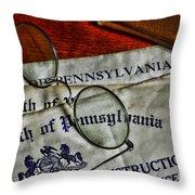 Commonwealth Of Pennsylvania Throw Pillow