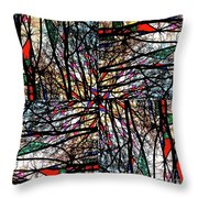 Communal Branches Throw Pillow