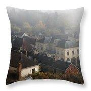 Commune La Roche Guyon Throw Pillow