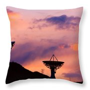 Communication Sunset Throw Pillow