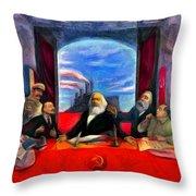 Communist Last Supper Throw Pillow