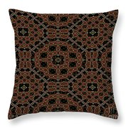 Community Garden Abstract Number One Throw Pillow
