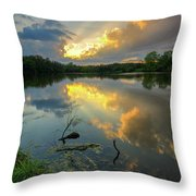Community Lake #8 Sunset Throw Pillow