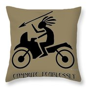 Commute Fearlessly Throw Pillow