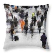 Commuter Art Abstract Throw Pillow