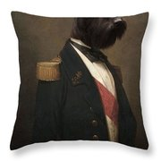 Sir Schnauzer The Magnificent Throw Pillow