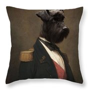Sir Schnauzer The Magnificent Throw Pillow