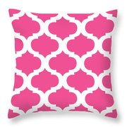 Compact Marrakesh With Border In French Pink Throw Pillow
