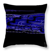Compartmental Blues Throw Pillow