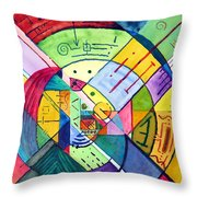Compartmentalized Information Throw Pillow