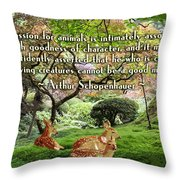 Compassion And Goodness Throw Pillow