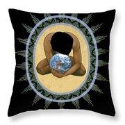 Compassion Mandala - Rlcmm Throw Pillow