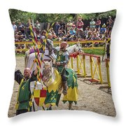 Competitors' Salutations Throw Pillow
