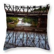 Complex Reflections  Throw Pillow