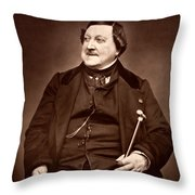 Composer Rossini Throw Pillow