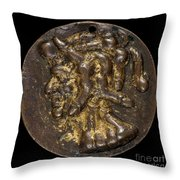Composite Head Formed Of Phalluses [reverse] Throw Pillow