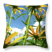 Composites In The Lawn Throw Pillow