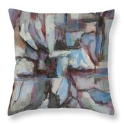 Composition In Blue 1 Throw Pillow