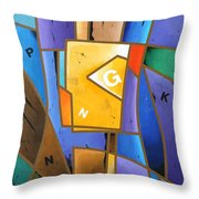 Composition # 5 Throw Pillow