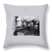 Composition With A Statue Throw Pillow