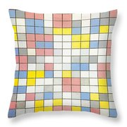 Composition With Grid Ix Throw Pillow