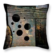 Composition With Holes And Spikes Throw Pillow