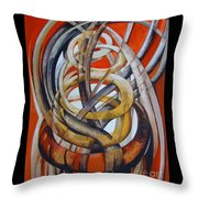 Composition With Red Throw Pillow