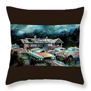 Compound In Cumberland Gap Throw Pillow