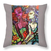 Comprimised Throw Pillow