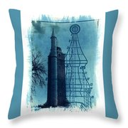 Compton Blueprint Throw Pillow