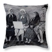 Computer Class Throw Pillow