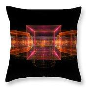 Computer Generated 3d Abstract Fractal Flame Modern Art Throw Pillow