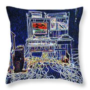 Computers And Wires Throw Pillow