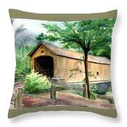 Comstock Bridge Throw Pillow