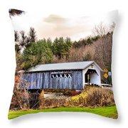 Comstock Bridge Montgomery Throw Pillow