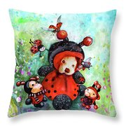 Comtessine Coccinella De Lafontaine Throw Pillow
