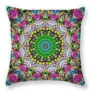 Concentric Colors Abstract Throw Pillow